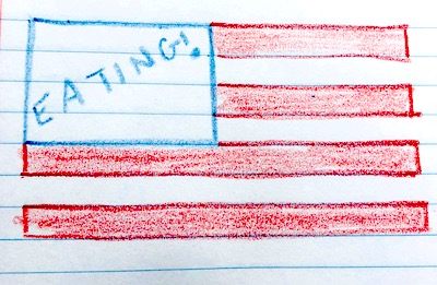 american flag illustration