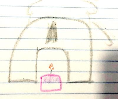 elephant pooping a birthday cake