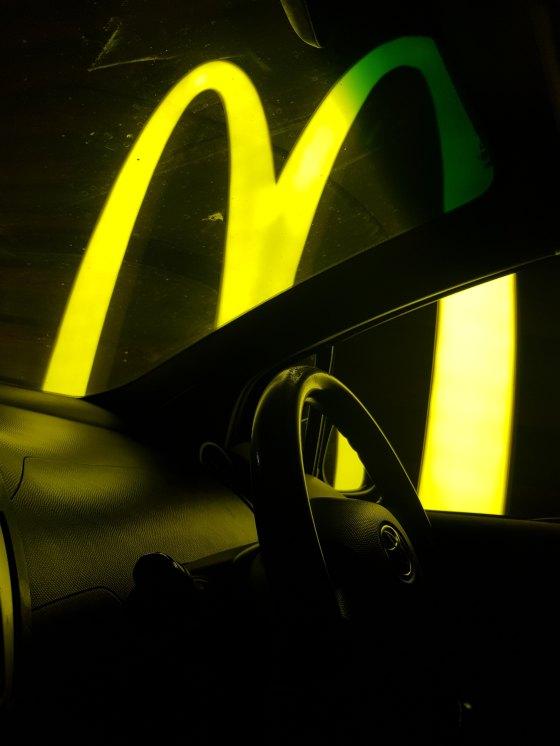 McDonald's neon sign