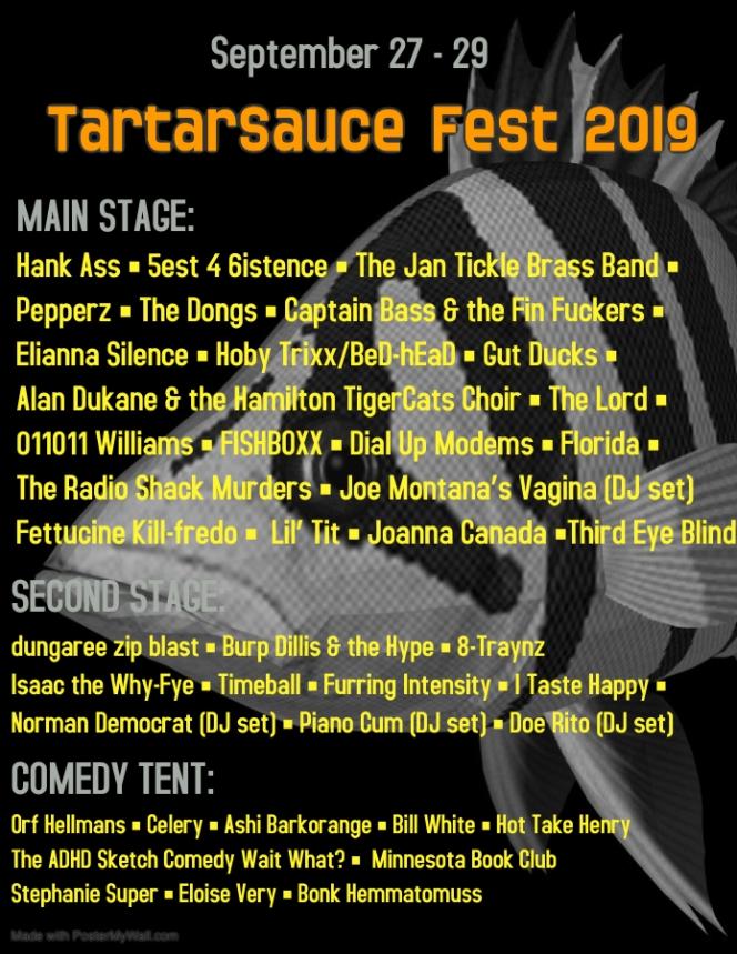 tartar sauce fest 2019 music festival poster