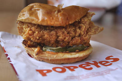 popeyes chicken sandwich las vegas journal review