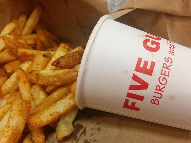 five guys burger fries