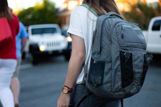 backpack woman
